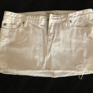 AF White Denim Mini Skirt